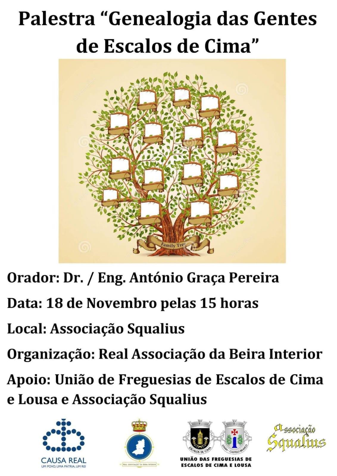 Palestra Genealogia das Gentes de Escalos de Cima Real Associação da Beira Interior